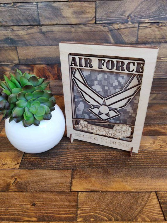Personalized Military Gift, Military Retirement, Air Force