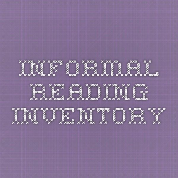 graphic about Printable Informal Reading Inventory named Casual Looking through stock Literacy Studying stock