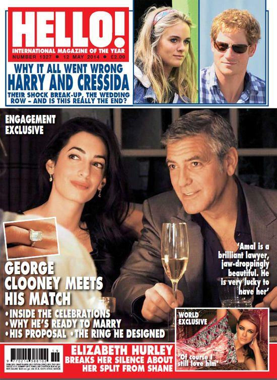 Las fotografías exclusivas en HELLO! y ¡HOLA! de George Clooney y Amal Alamuddin celebrando su compromiso matrimonial