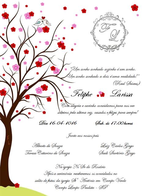 Convite de Casamento - Passarinhos   Convites de ...