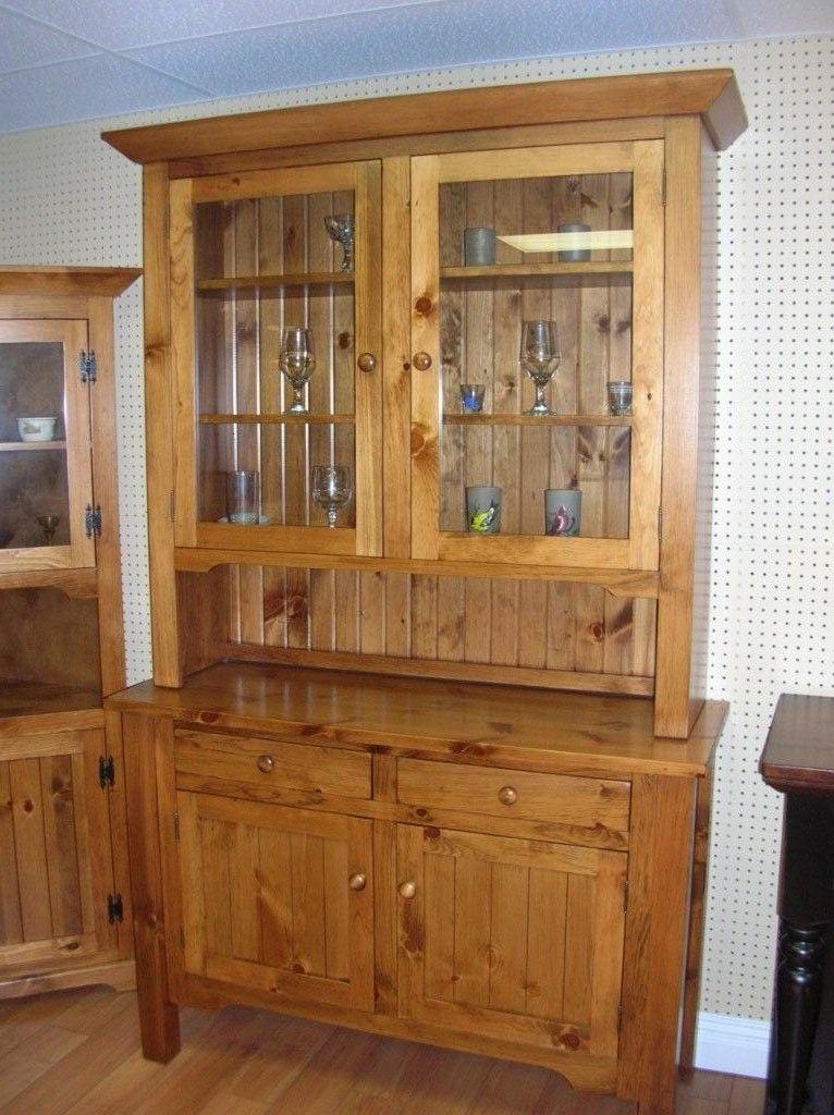 pine kitchen hutch