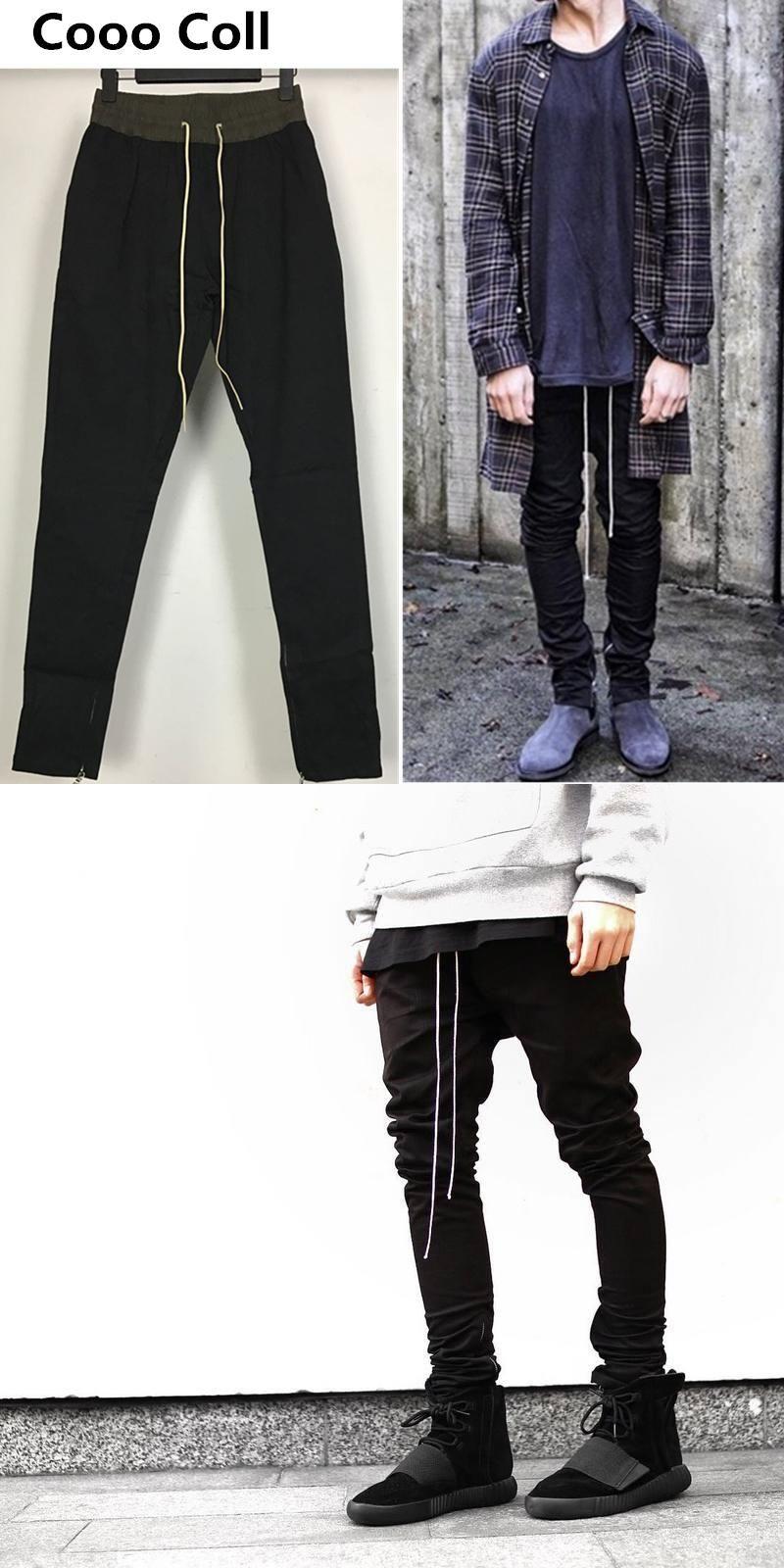 489514d9d06e 2017 New Men s pants Justin Bieber Slim Jogger Fear Of God trousers kanye  West Sweatpants Long pants Black Grey IACB Store