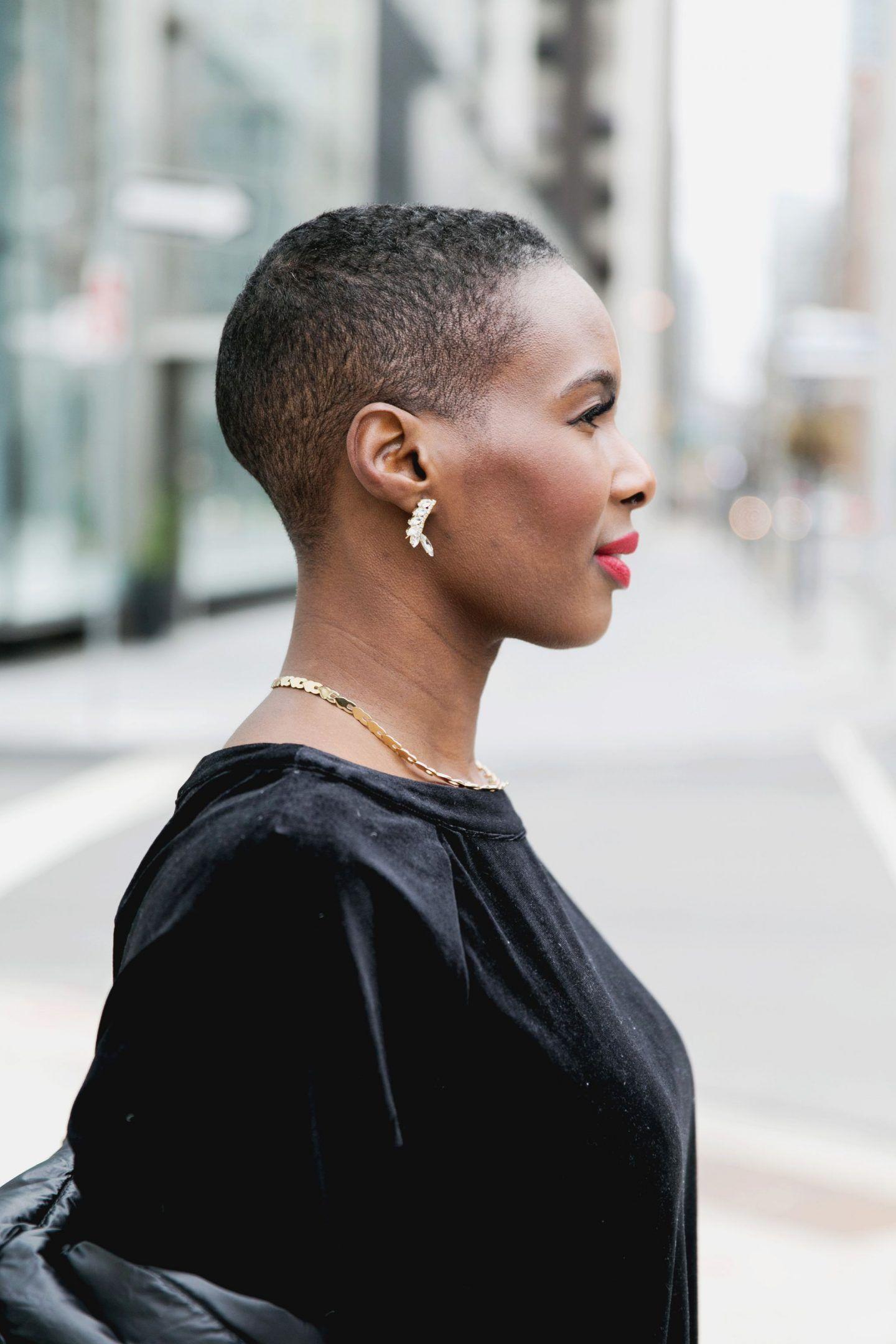 Red lipstick for darkskin short hair styles pinterest