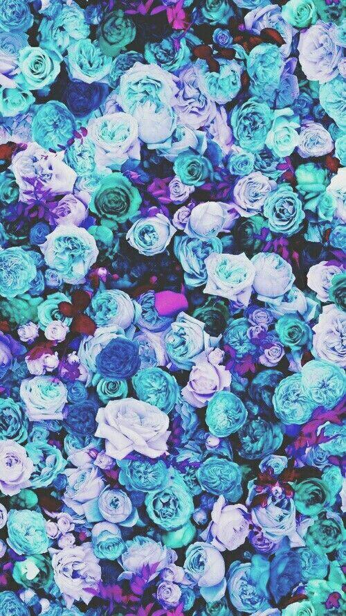 Fondo De Pantalla De Flores Azules Y Mas Colores Pines Pinterest
