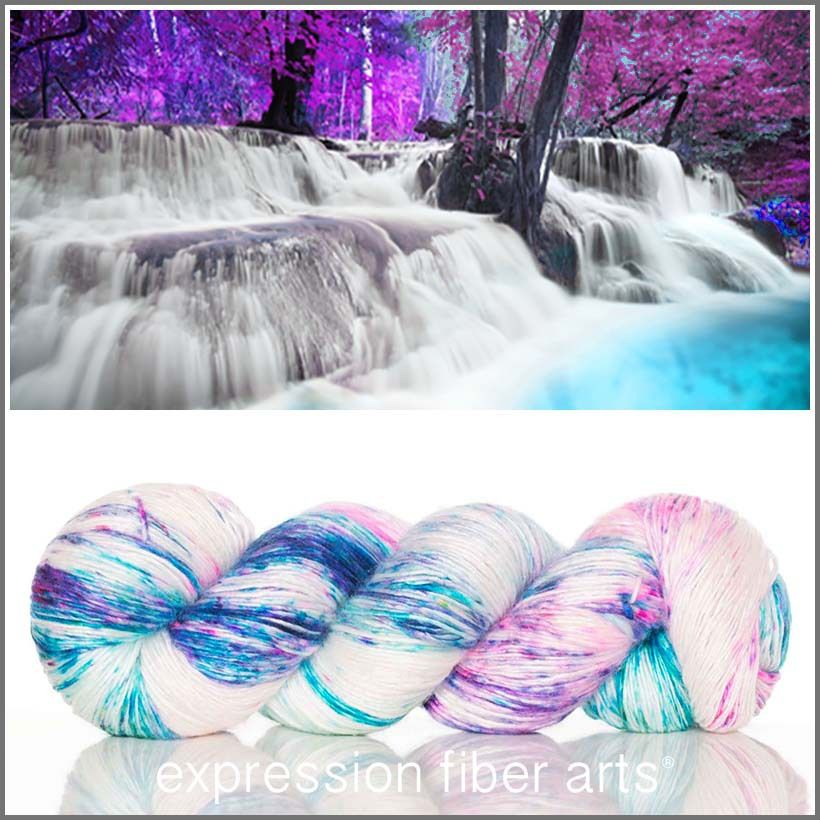 Expression Fiber Arts, Inc. - TITANIA SUPERWASH MERINO SILK PEARLESCENT FINGERING Yarn