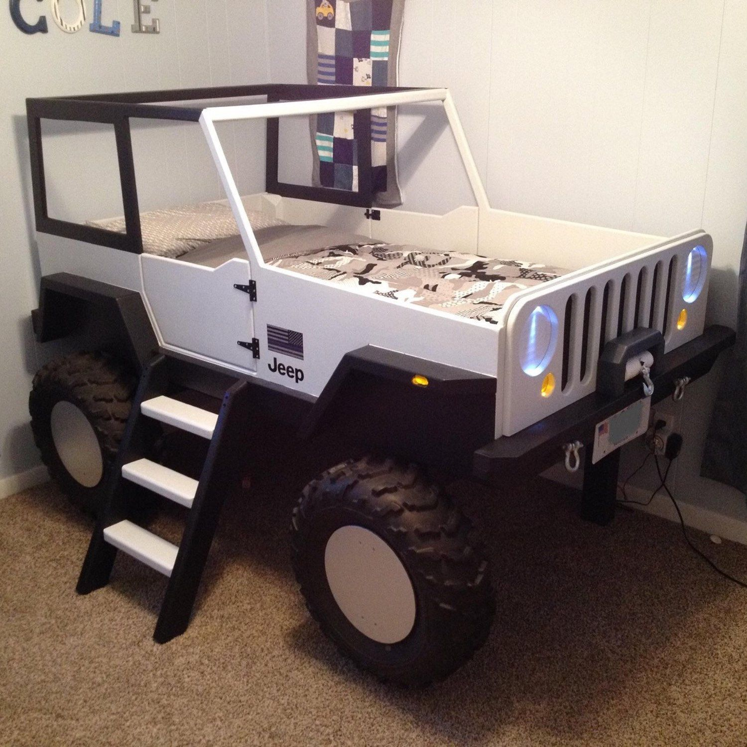 Jeep Bed Plans Twin Size Car Bed di JeepBed su Etsy | Boy Mom of 2