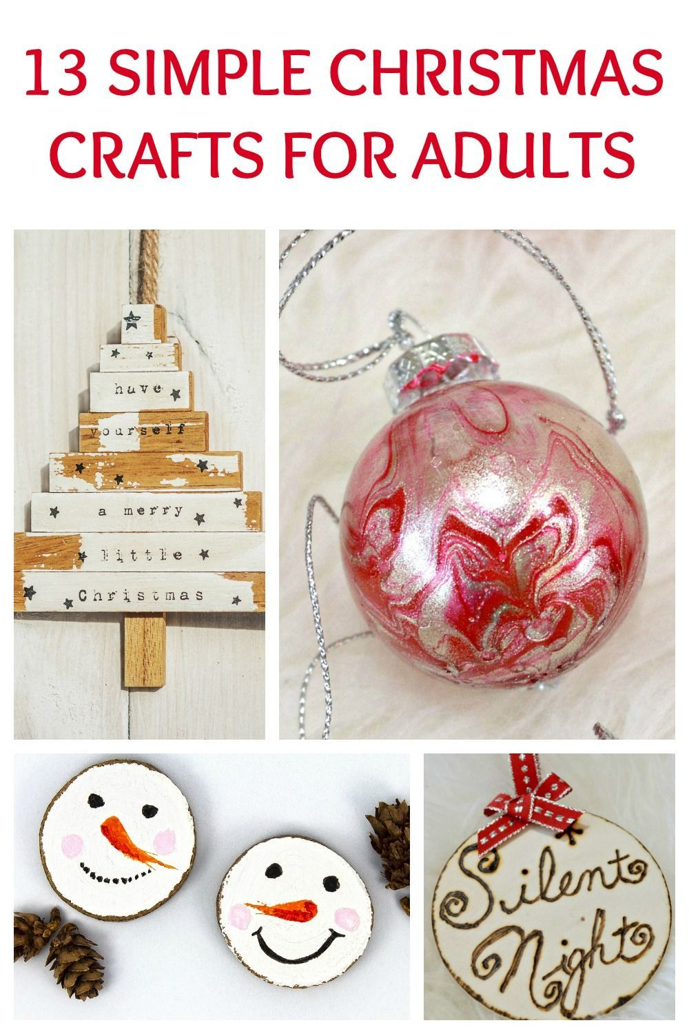 Simple Christmas Crafts Adults Who Have No Time Will Love Easy