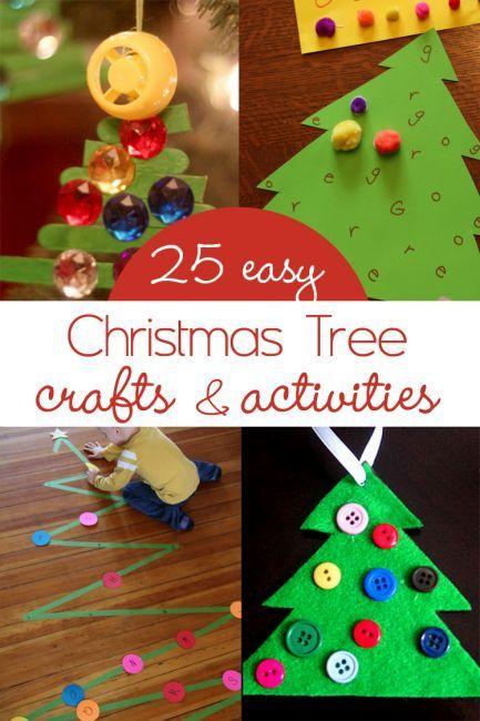Christmas Tree Crafts \ Activities for Kids Manualidades navidad