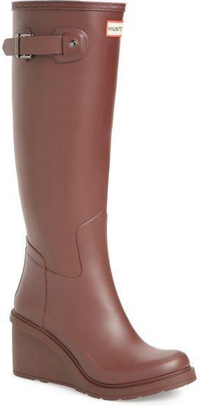 f651a1aa7883 Hunter Original Refined Wedge Rain Boot (Women)