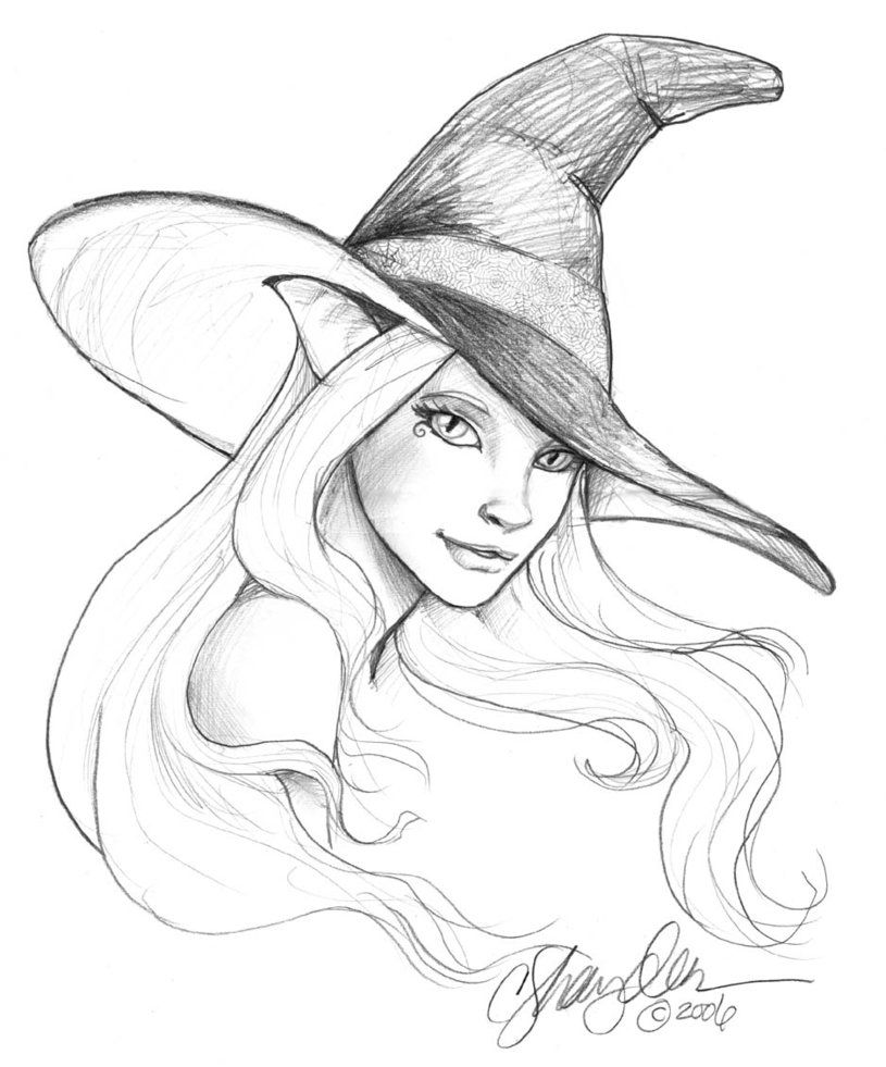 Witch Drawing Tumblr Witch Hat Drawing Witch s Hat