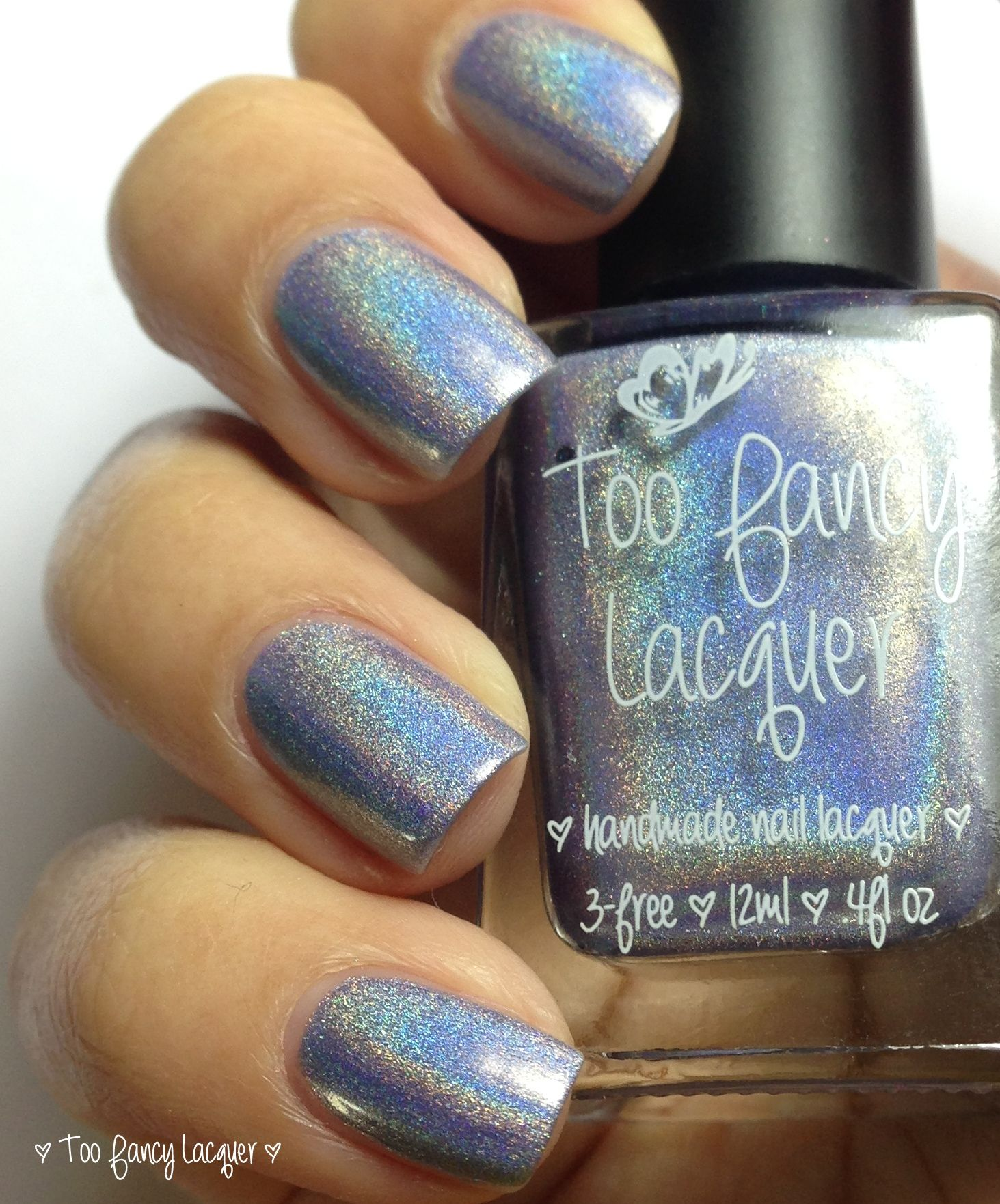 Blue Willow -- silvery blue with purple under tone ultra holo