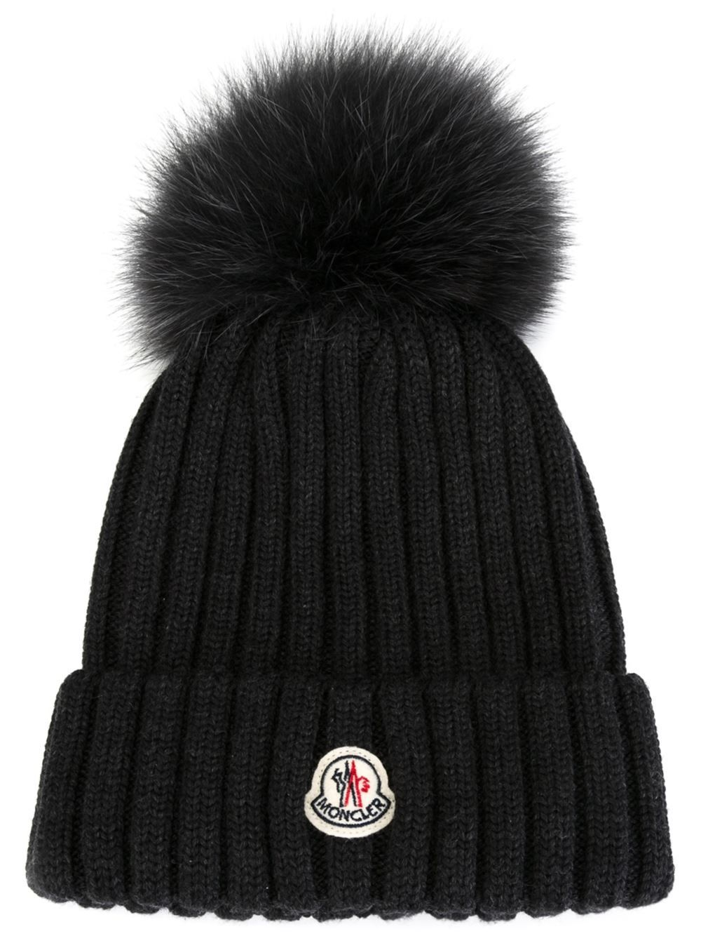 moncler  women  girls  fur  pompom  beanie  grey  hat www.jofre.eu ... 443c9e71044