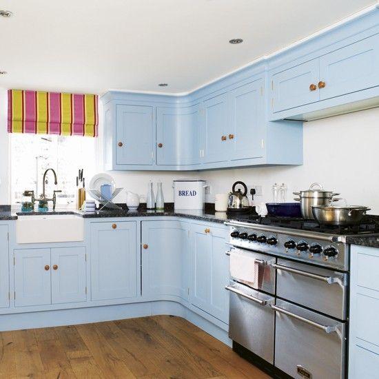 sky-blue kitchen ih | b l u e | cocinas, decorar la cocina, cocina