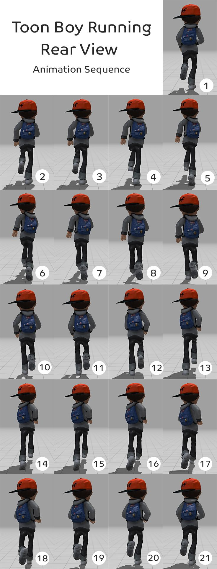 Boy Running Rear View Animation Sequence Maximo Character Cool Drawings Animation Character Design