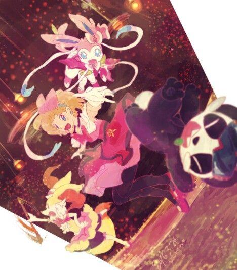 Serena and her Pokemon