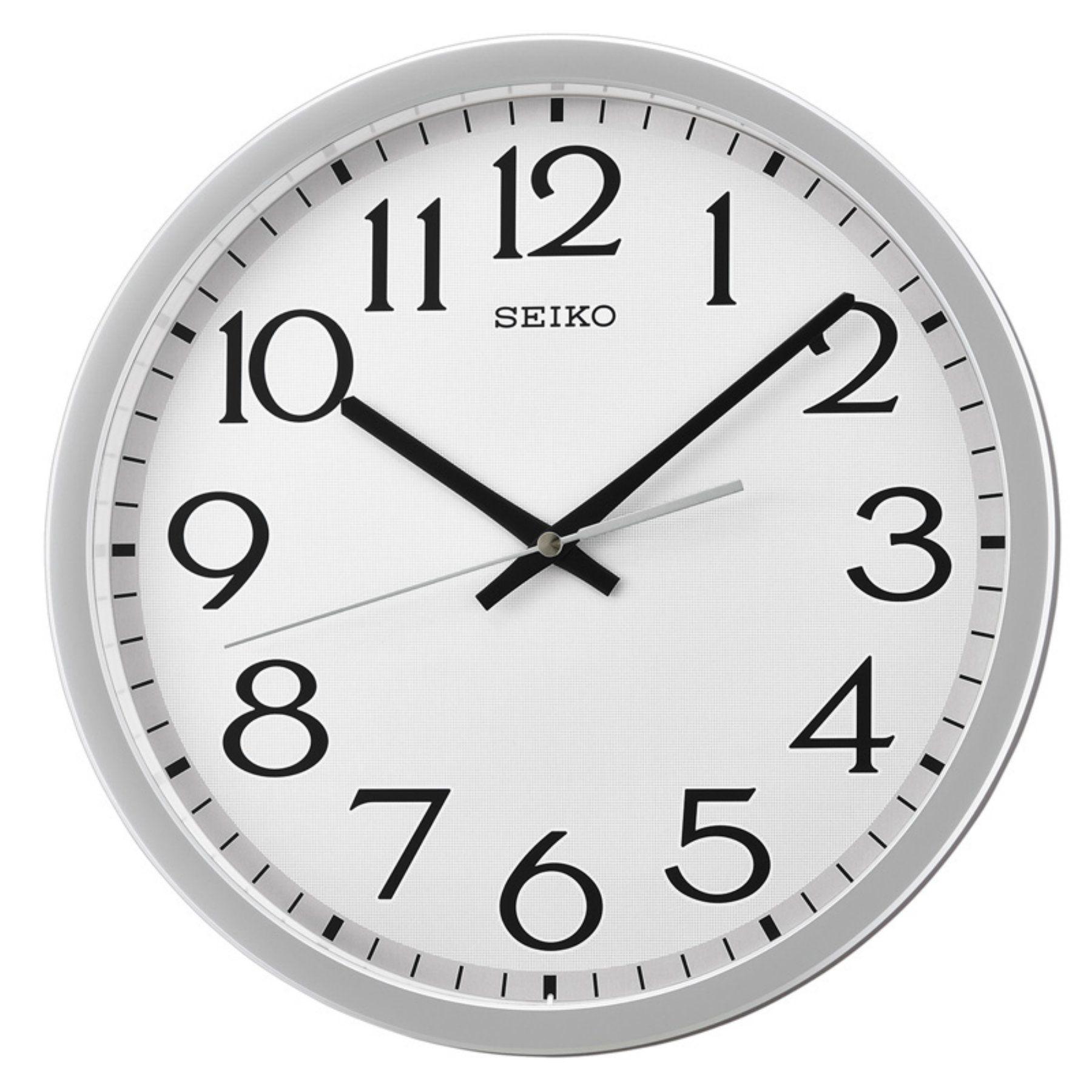 Seiko Quartz Wandklok.Seiko 12 In Silver Quiet Sweep Wall Clock Products