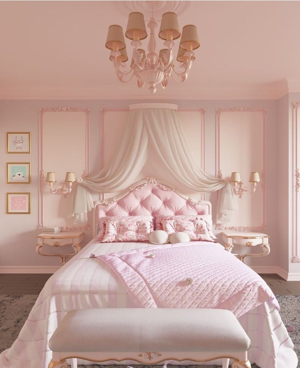 Image Shared By White Rose Find Images And Videos About Pink Vintage And Girly On We Heart It The A Pink Bedroom Design Bedroom Interior Luxurious Bedrooms