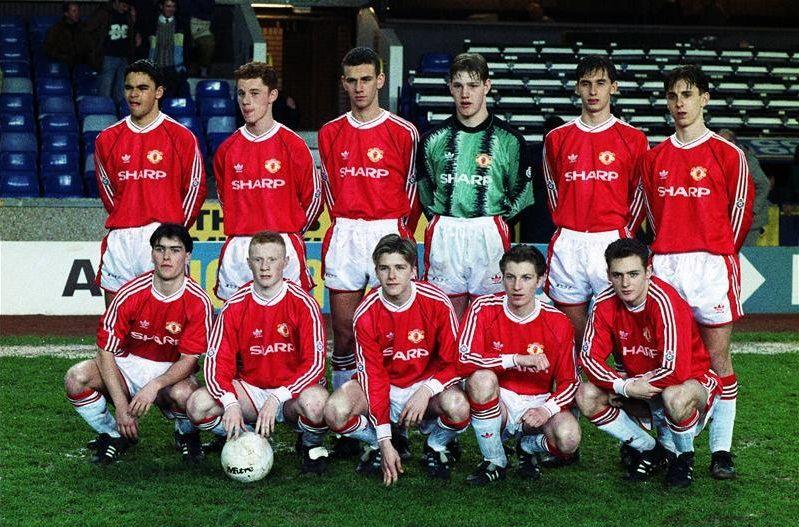 Youth Football Past And Present Liverpool Vs Man United U18s Stretty Ran David Beckham Manchester United Manchester United Team Manchester United Legends