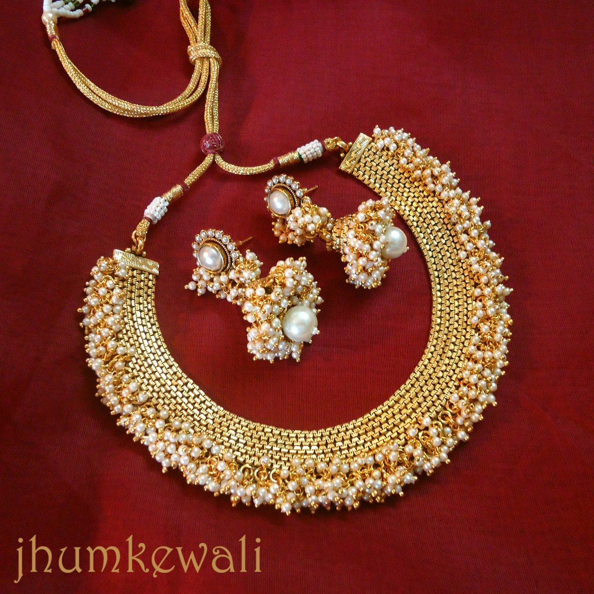 Indian Gold Jewellery Necklace Sets Google Search: Indian Pearl Necklace - Google Search