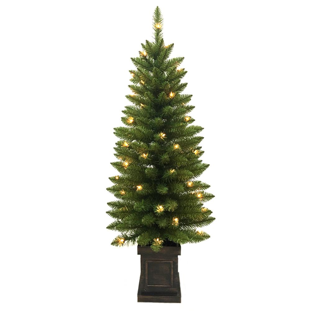Home Accents Holiday 4 ft. PreLit Douglas Artificial