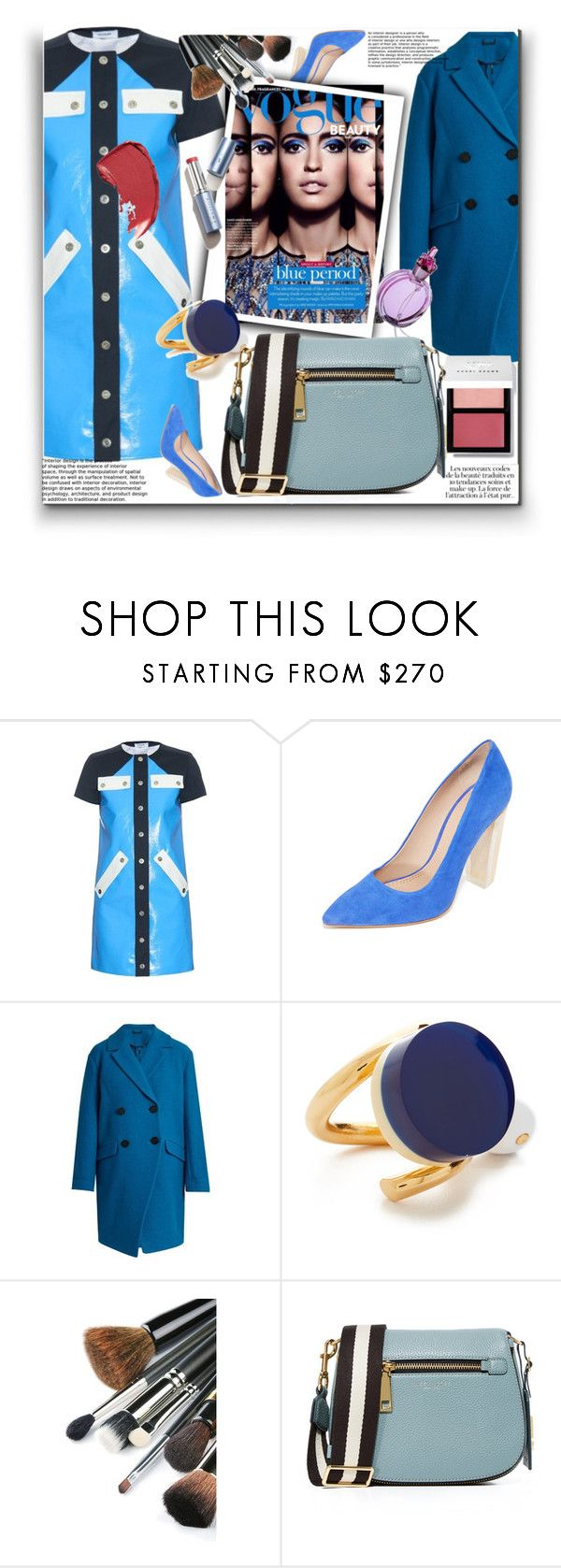 """Fabulous in Button-Through Dress!!"" by stylediva20 ❤ liked on Polyvore featuring Courrèges, Tory Burch, Diane Von Furstenberg, KAROLINA, Marni and Marc Jacobs"