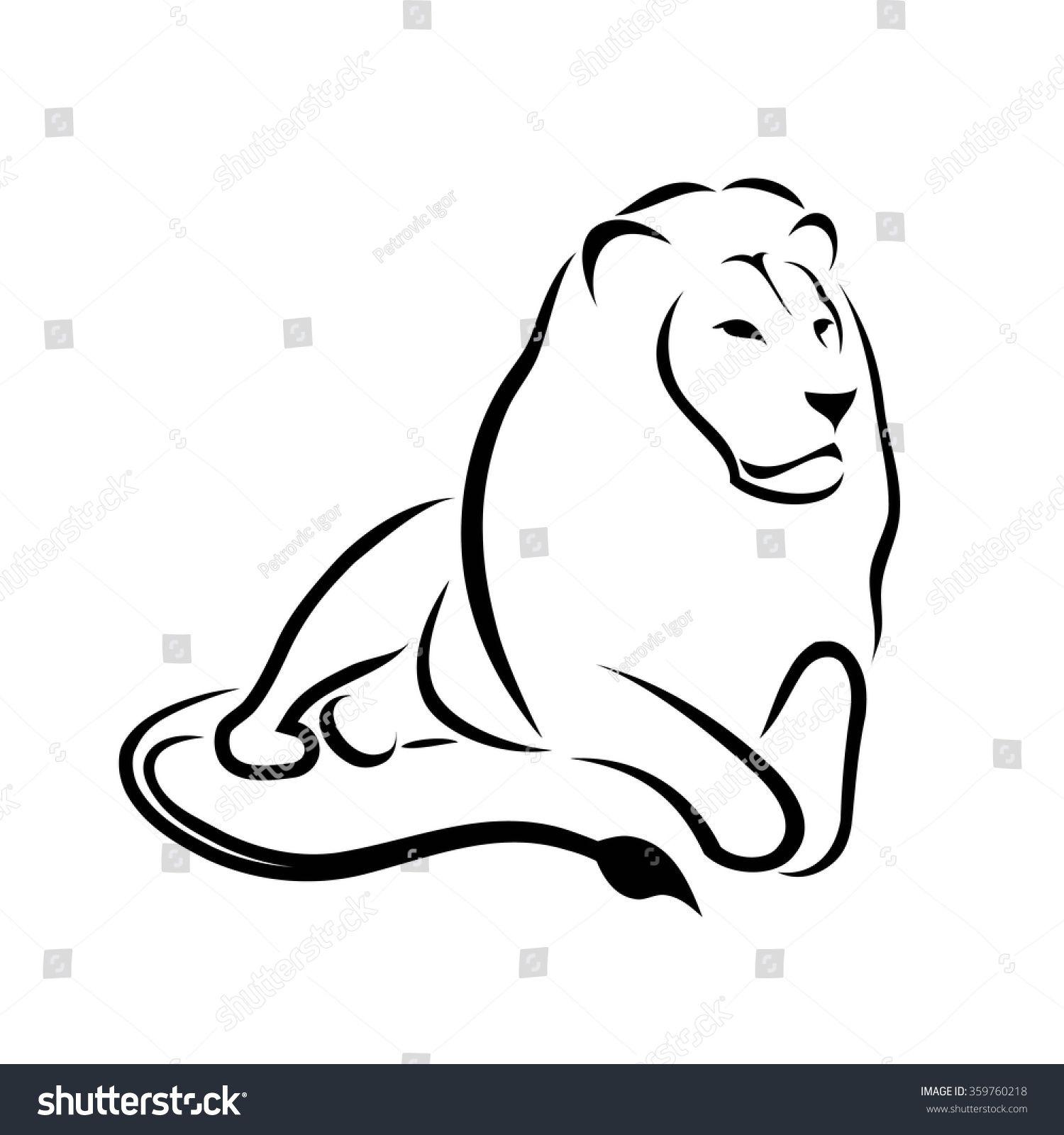 Immagine vettoriale stock 359760218 a tema Lion Symbol