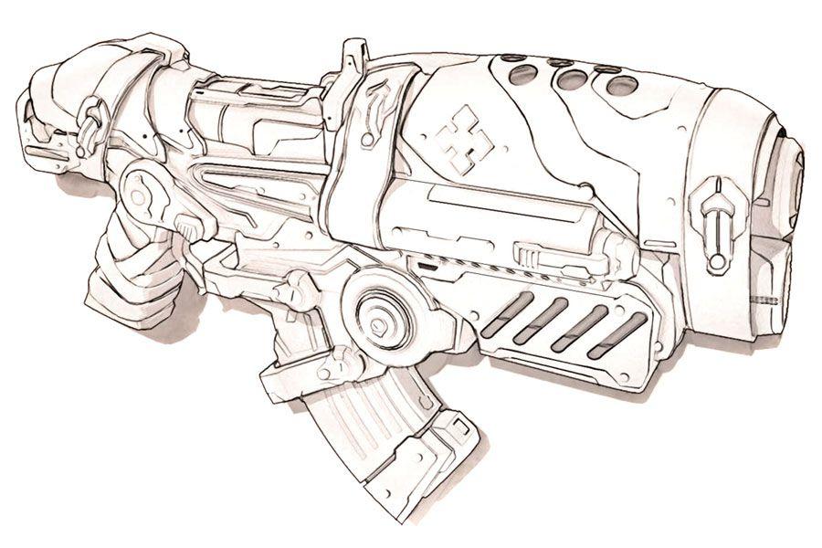 Gears Of War Art Pictures Hammerburst Gears Of War War Art Gear Art