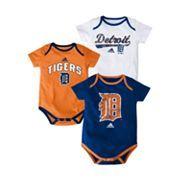 adidas Detroit Tigers 3-pk. Bodysuits - Baby: Kohls