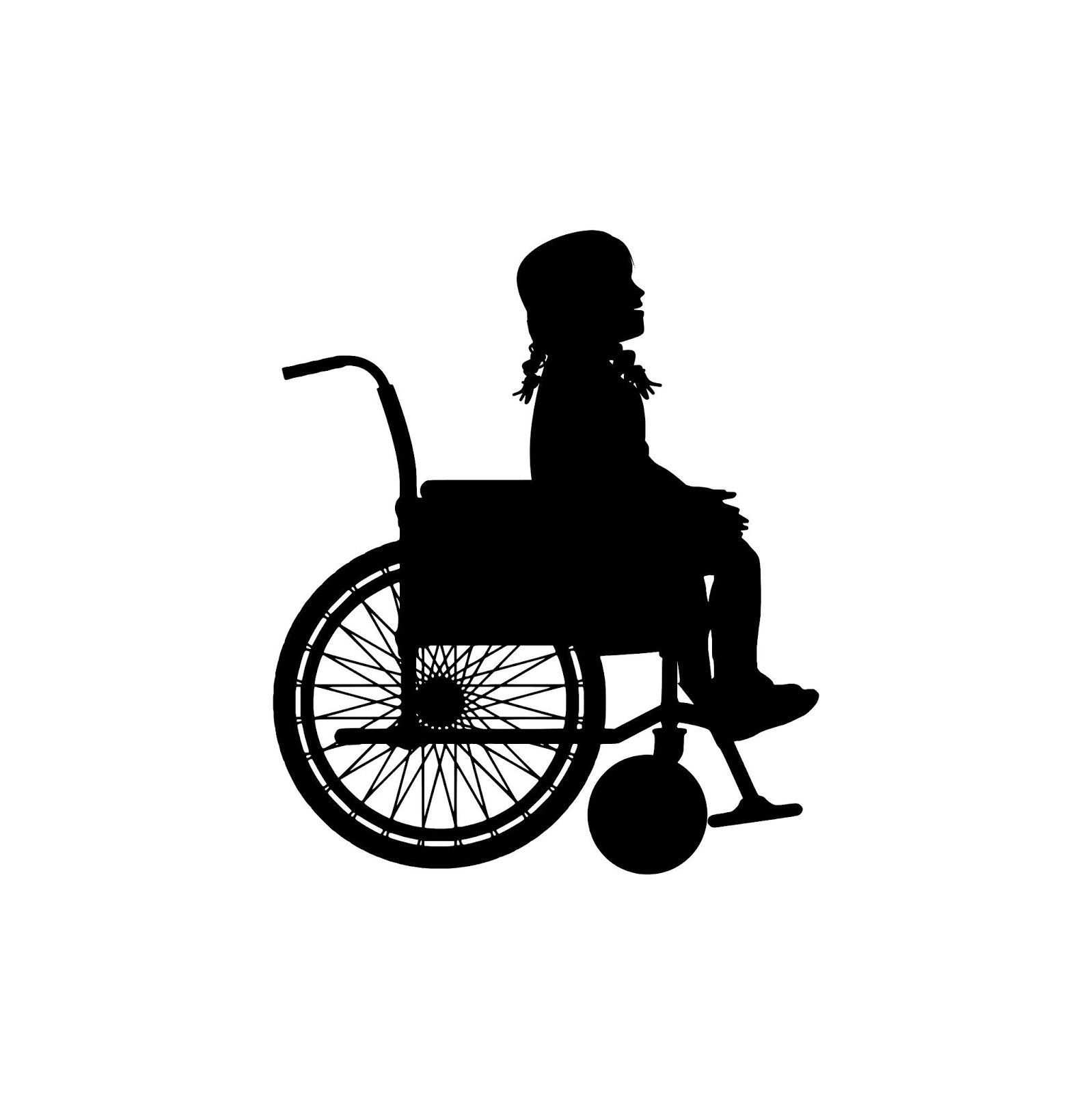 Download Free Images And Illustrations Illustration Of Little Girl On Wheelchair Silhouette Girl Silhouette Silhouette Little Girls