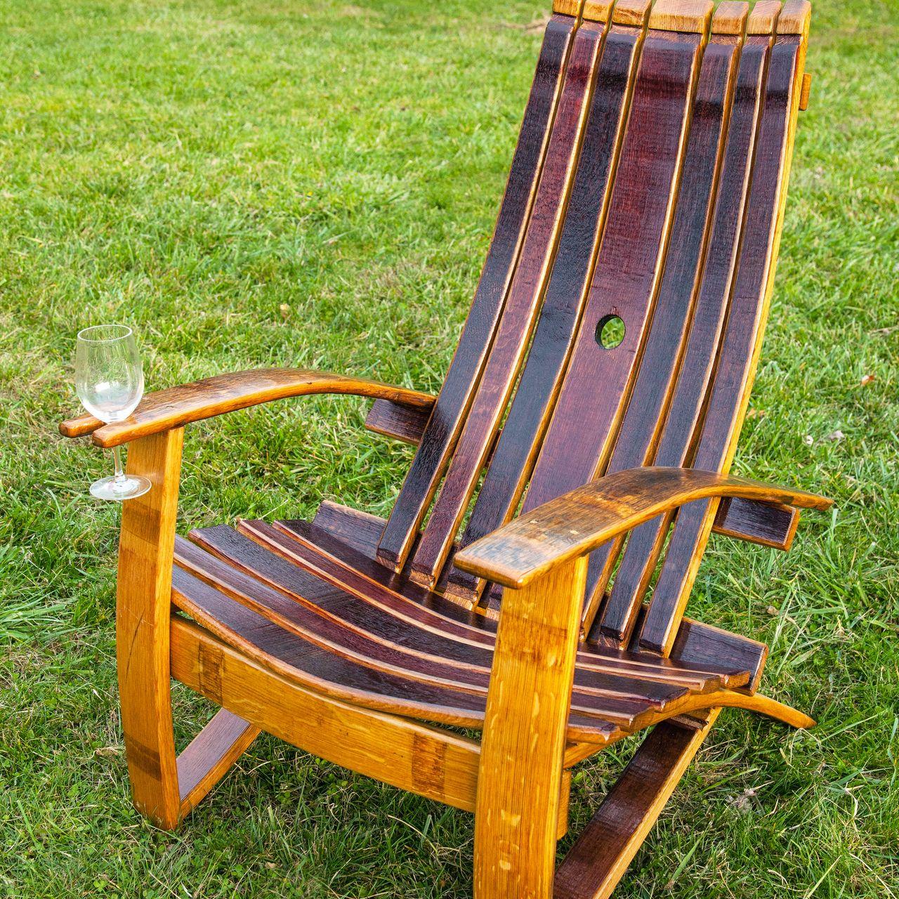 adirondack wine barrel chairs flip chair beds outdoor living area