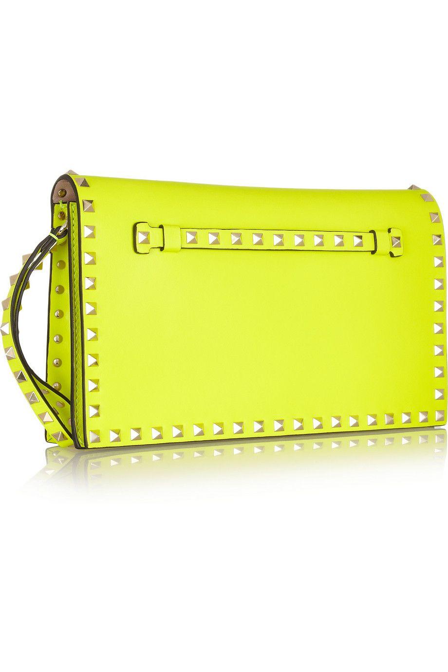 Valentino rockstud neon yellow clutch image inspiration jpg 920x1380 Neon  yellow clutch 0ef901346fa3c