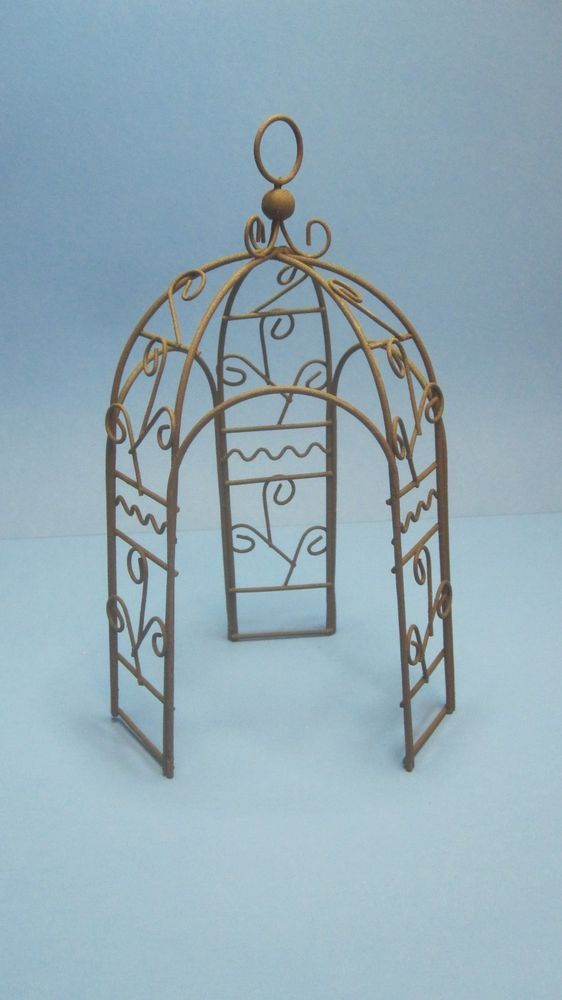 Miniature Dollhouse FAIRY GARDEN ~ Rustic Rusty Metal Tilt-A-Whirl Carnival Ride