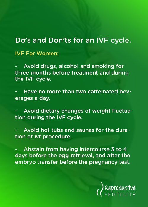 Do's and Don'ts for an IVF cycle  IVF For Women | Pregnancy | In