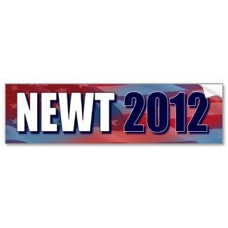 Newt 2012 - Newt Gingrich Bumper Sticker