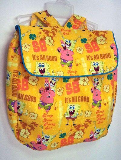Spongebob children's backpack