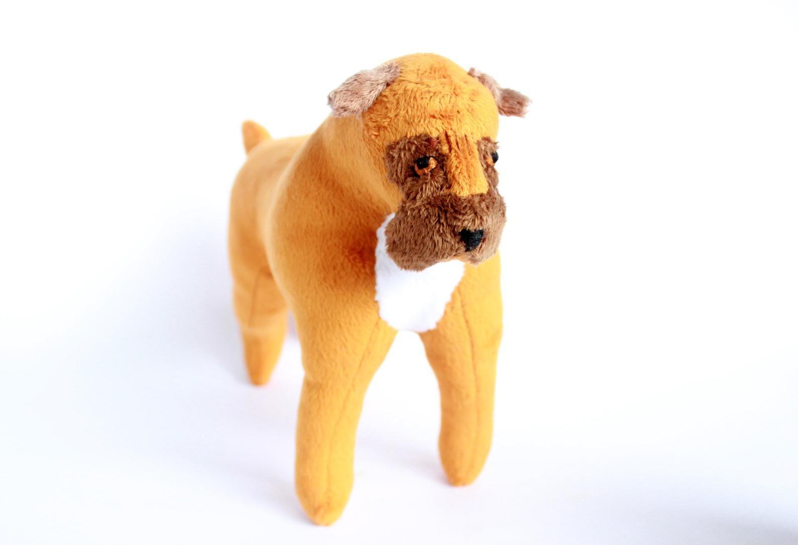 Boxer Dog Made To Order Stuffed Animal Pet Portrait Plushie Etsy