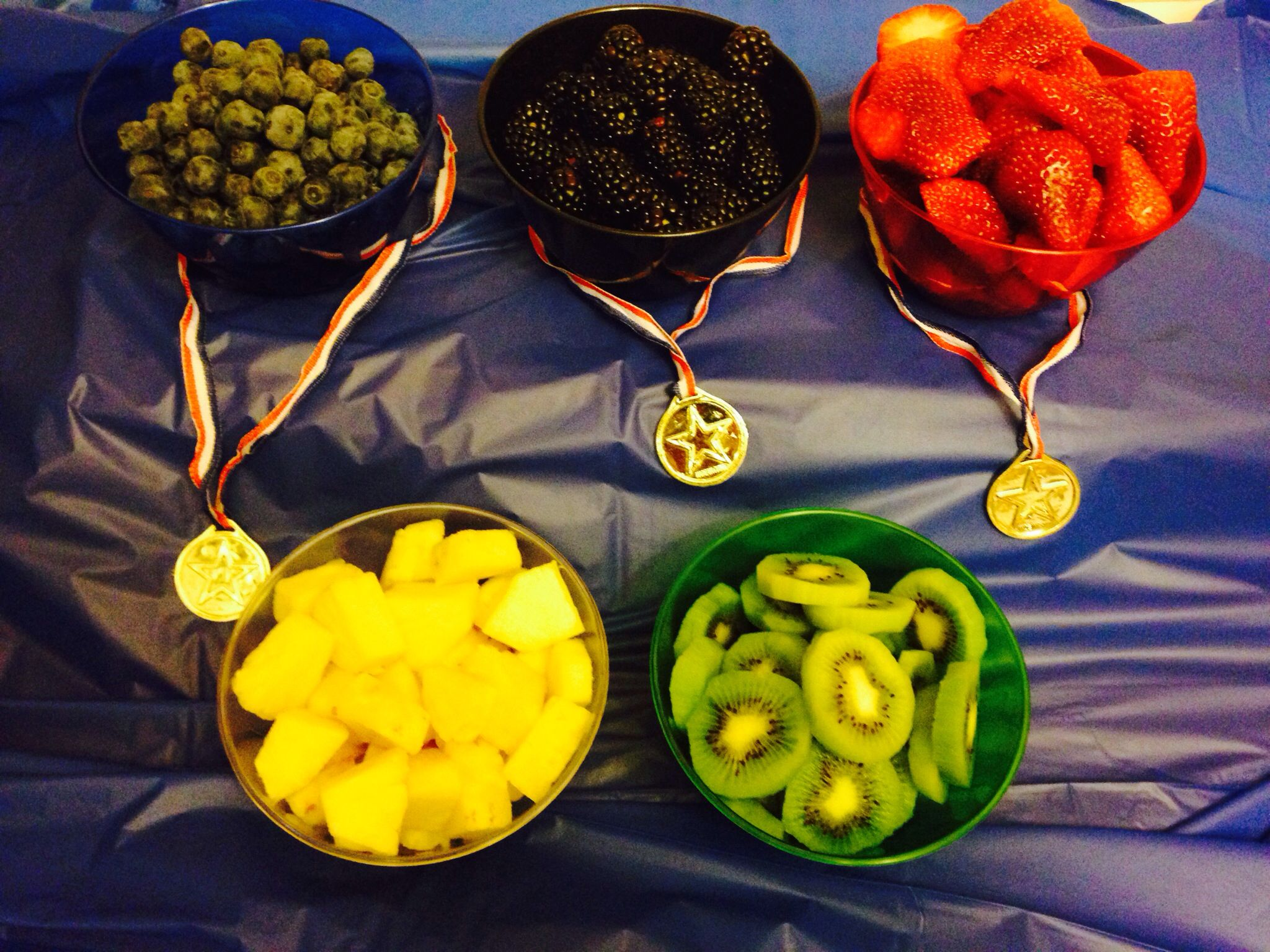 Fruit bowls Olympic Rings