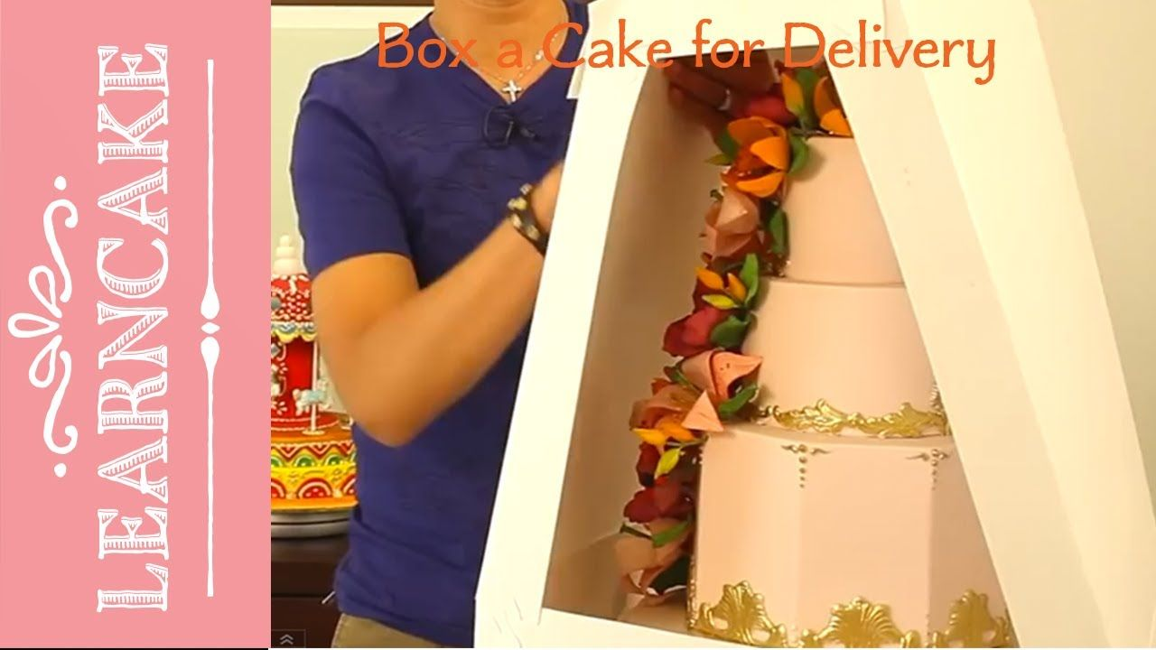 How to box a cake for delivery Cake transport Pinterest