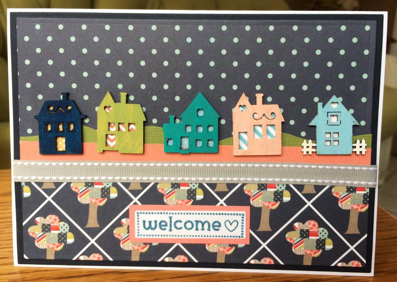 Handmade Welcome To The Neighborhood Card Handmade New Home Greeting
