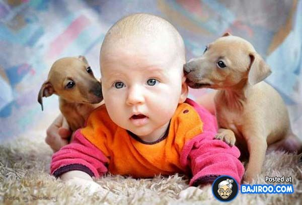cute baby and dog - Google'da Ara