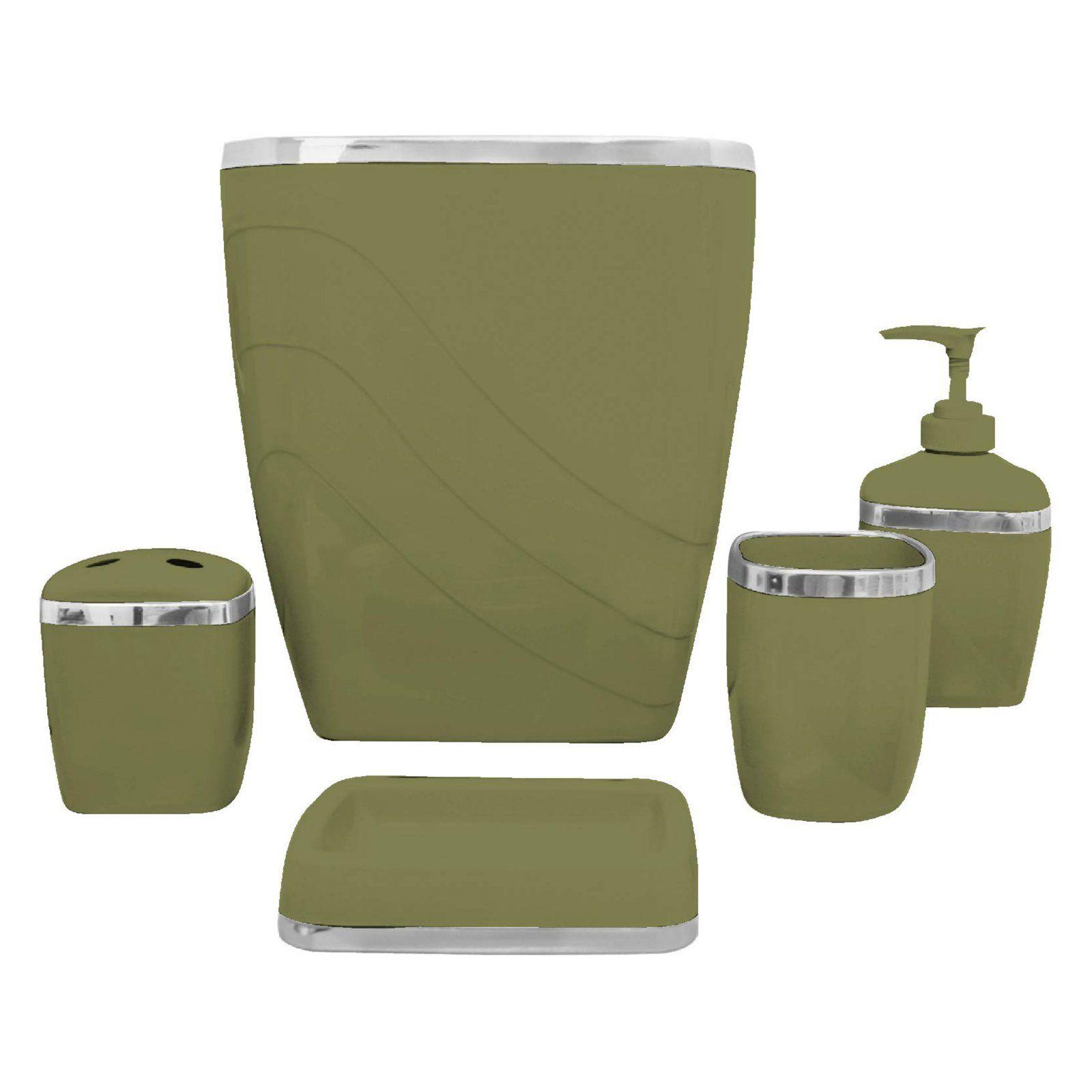 Carnation Home Fashions 5 Piece Bathroom Accessory Set Bath