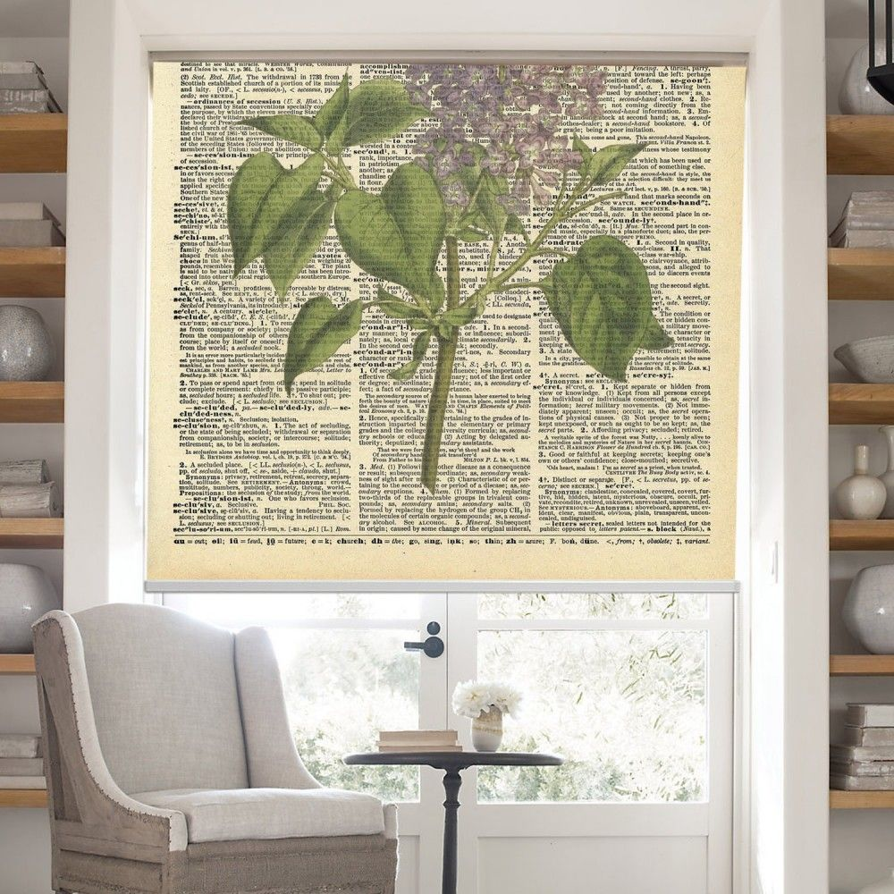 Window Treatments Interiordesign: Common Lilac Printed Roller Blind #rollerblinds #homedecor
