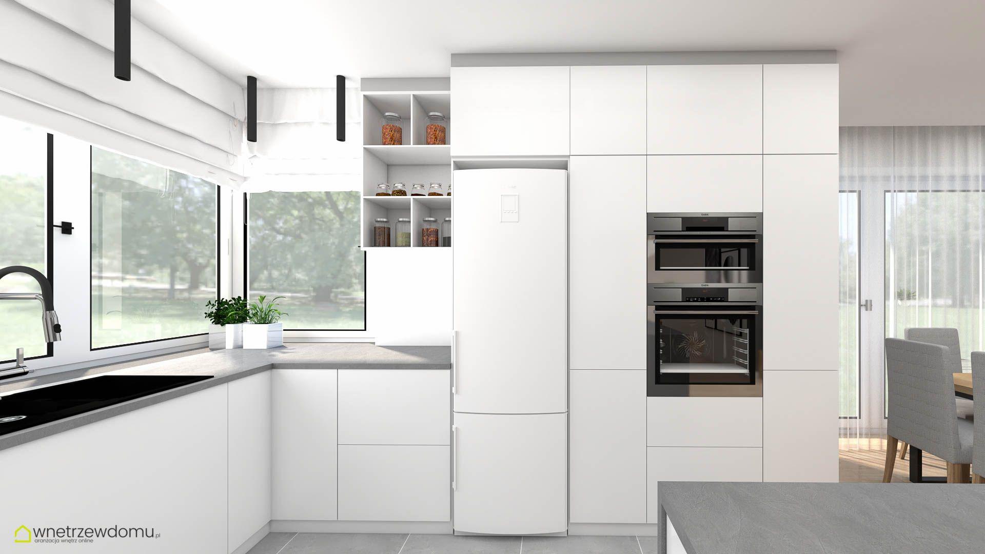Przestronna Biala Kuchnia Home Home Decor Kitchen Cabinets