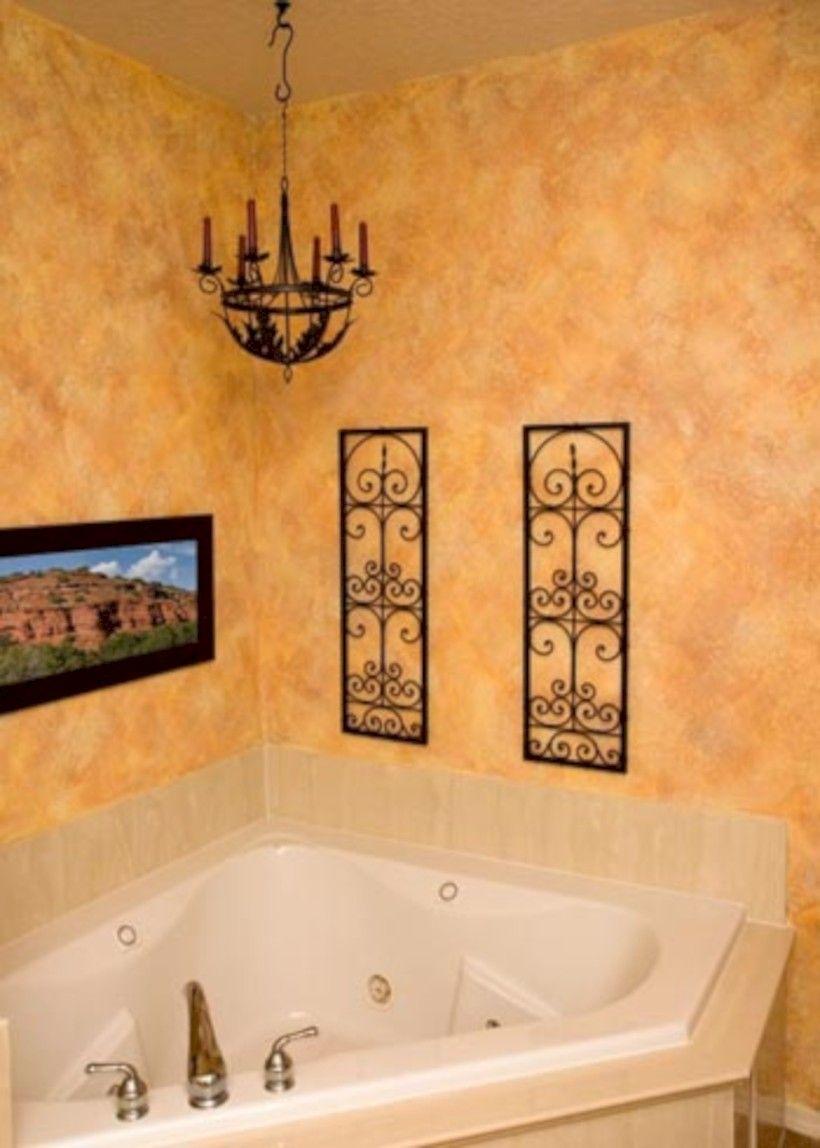 50 Yellow Tile Bathroom Paint Colors Ideas Roundecor Painting Bathroom Sponge Painting Walls Room Paint
