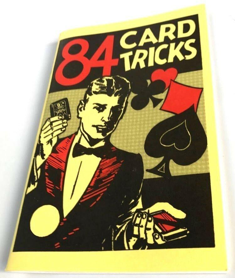 84 CARD TRICKS BOOK Magic Sleight of Hand Teach Deck Secrets Close Up Magician