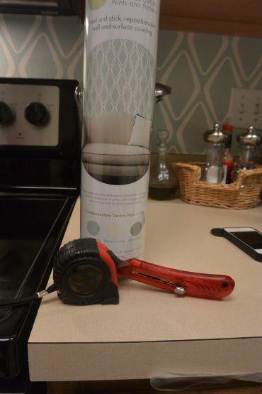 Kitchen Backsplash Contact Paper using target vinyl contact paper as a faux backsplash | dreaming