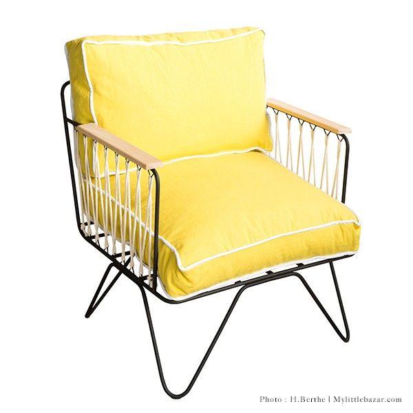 fauteuil honor croisette noir jaune meubles pinterest lovely things and decoration. Black Bedroom Furniture Sets. Home Design Ideas