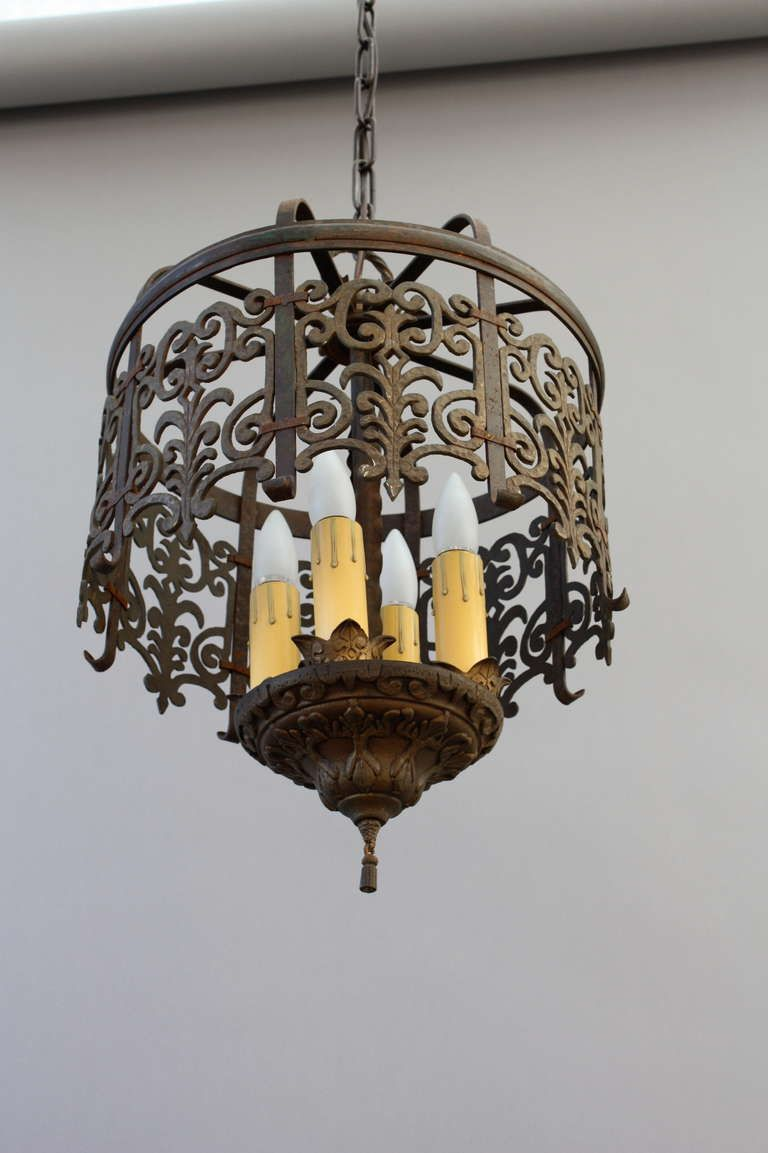 Classic spanish revival chandelier with cast filigree spanish 1stdibs classic spanish revival chandelier with cast filigree arubaitofo Gallery