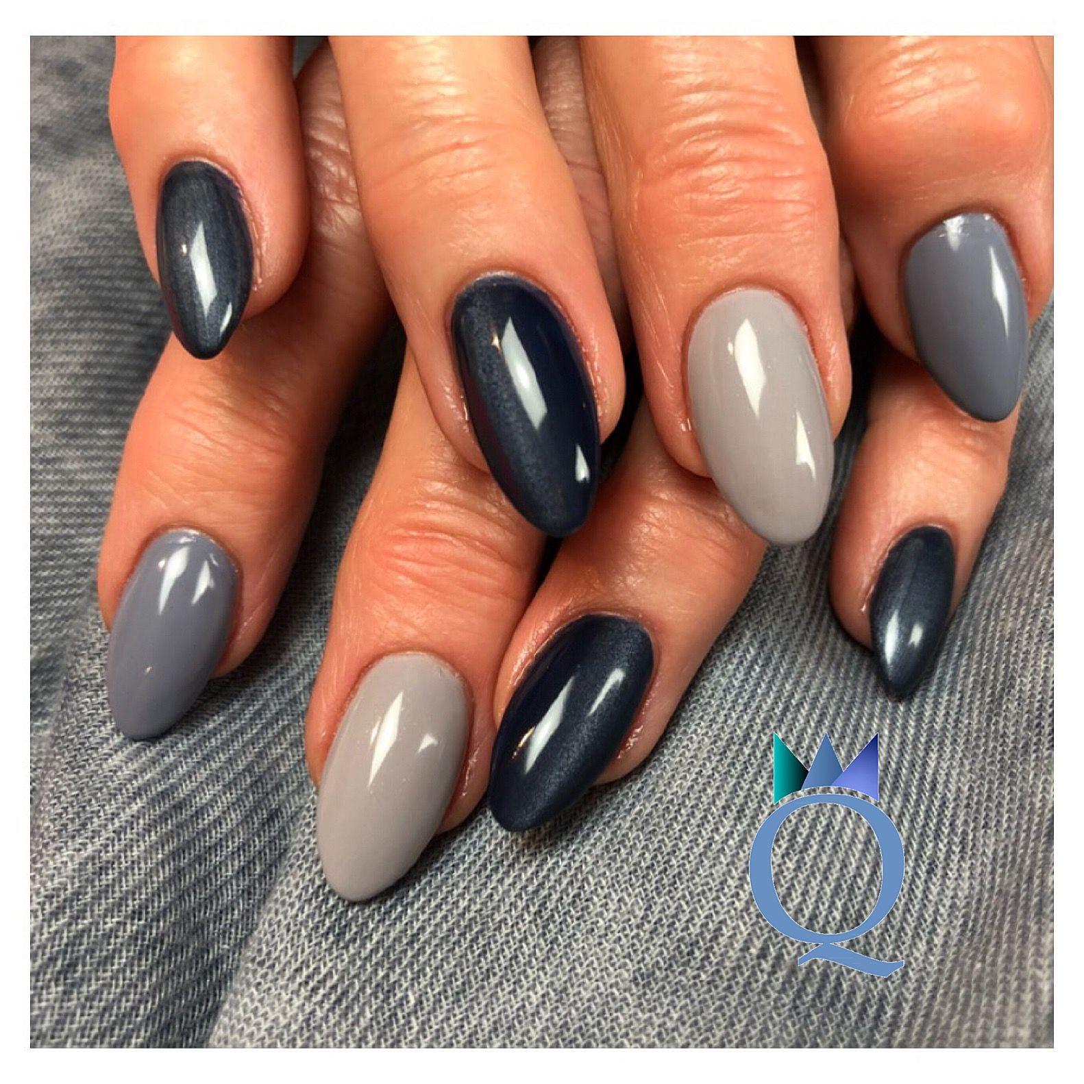 Almondnails Gelnails Nails Blue Cateye Mandelform Gelnagel