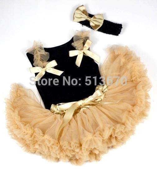 23.99$  Buy here - http://alizm6.shopchina.info/go.php?t=32255390448 - Baby Goldenrod Pettiskirt Skirt Black Top Goldenrod Rose & Ruffles Bow Set 3-12M MAPSA0296 23.99$ #SHOPPING